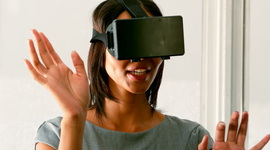 Female Business Executive Using Virtual Glasses In Office Royalty-free stock video